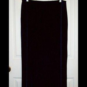 Vintage Purple Velvet Skirt